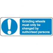 Mandatory Safety Sign - Grinding Wheels 070